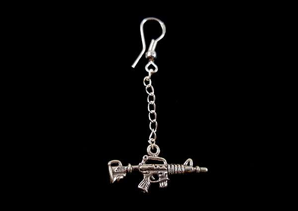 Machine Gun - Dangle Earring