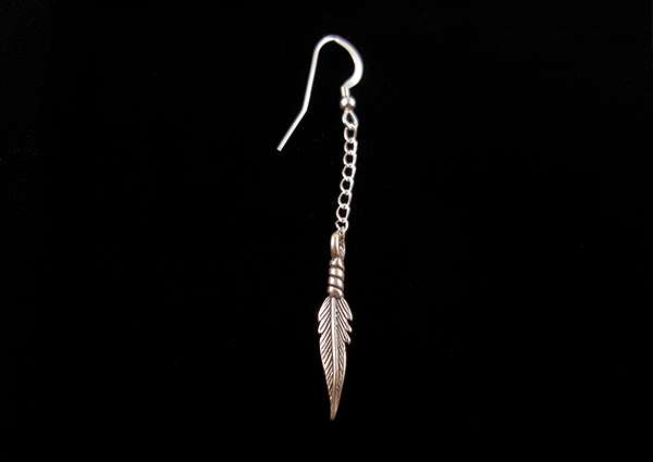 Feather, Cast - Dangle Earring