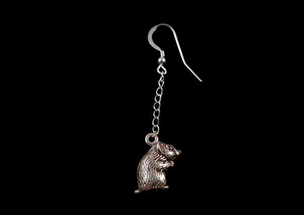 Hampster - Dangle Earring